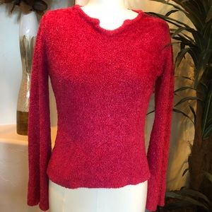 fun hot pink sweater size M by Limited Too